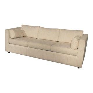 Mid-Century White Tuxedo Style Sleeper Sofa