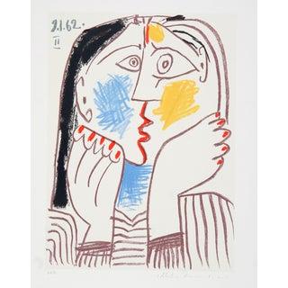 Pablo Picasso 'Tete Sur Les Mains' Lithograph