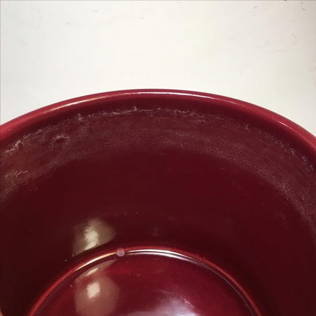 Vintage Gainey Burgundy Gloss Planter - Image 4 of 4