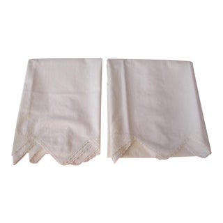 Cotton Pillow Linens - A Pair