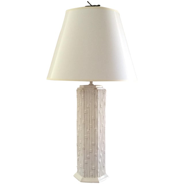 Faux Bamboo Table Lamp - Image 1 of 3