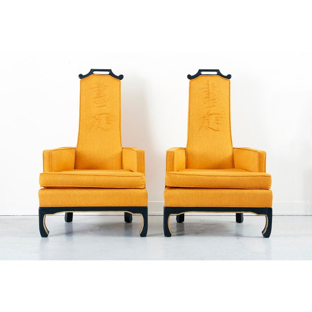 Image of Pair of Chinoiserie Occasional Chairs in the Style of William 'Billy' Haines