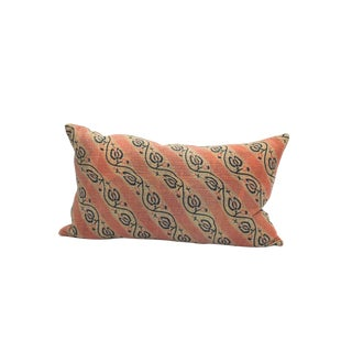 Striped Kantha Quilt Pillow