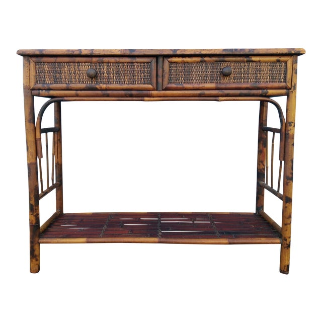 Bamboo & Reed 2-Drawer Console Table - Image 1 of 9