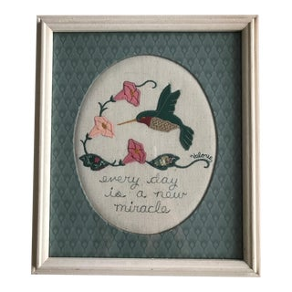 Every Day Is a New Miracle Wool Applique Folk Art