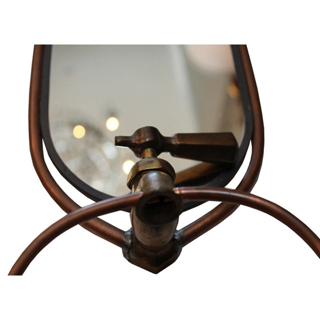 Image of Oval Wall Mirror with Towel Holder