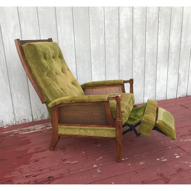 Mid-Century Cane Reclining Chair - Image 2 of 6