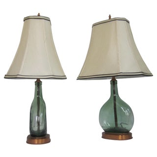 French Bottle Lamps - Pair
