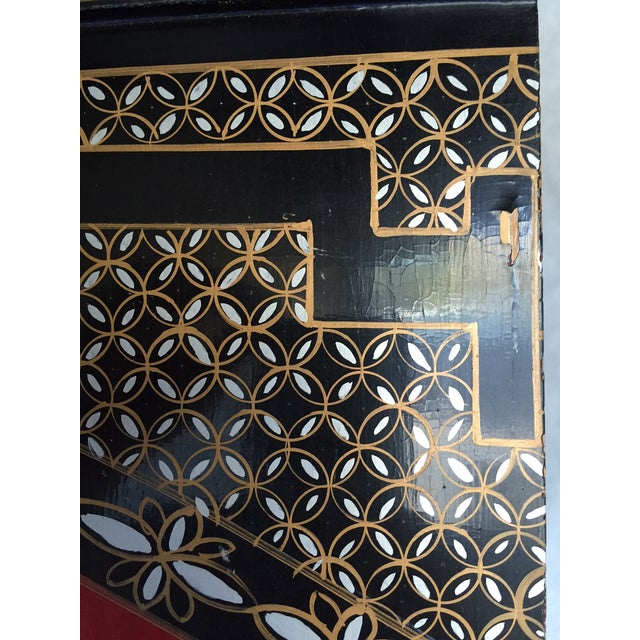 Vintage Chinoiserie Folding Screen - Image 8 of 10