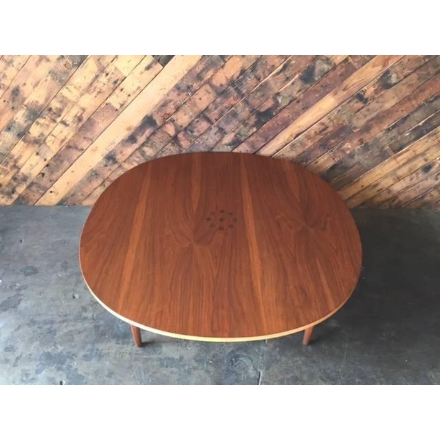 Mid Century Walnut Round Drexel Coffee Table Chairish