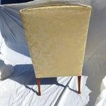 Image of Vintage Mahogany & Yellow Damask Wingback Chair