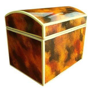 Maitland Smith Small Faux Tortoise Shell Lidded Box