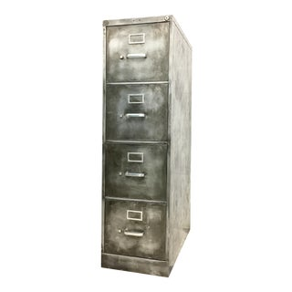 Industrial Brushed Metal File Cabinet