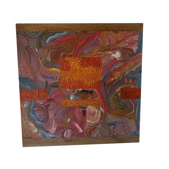 Image of Charles Huckeba Signed Modernist Oil Painting