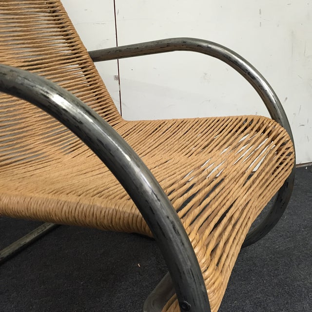 Nord Metal & Rope Side Chair - Image 4 of 6