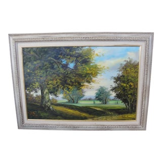 Mid-Century Oil on Canvas Landscape Painting by Paul Chen
