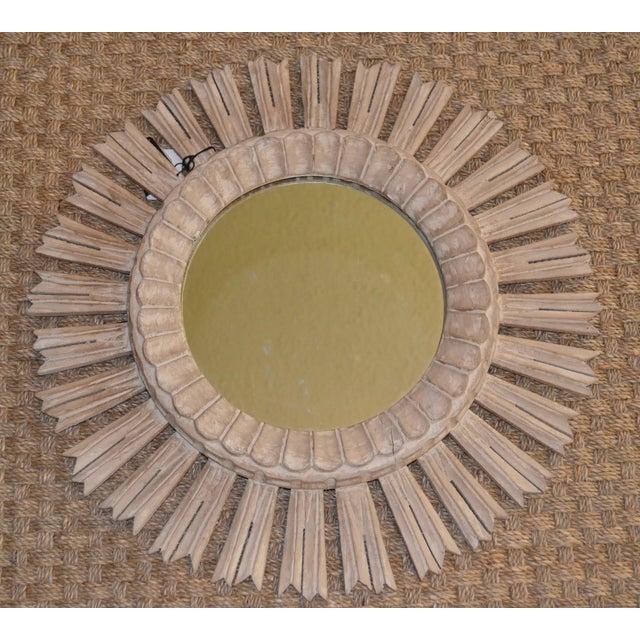 Arteriors Home Hand Carved Sunburst Mirror - Image 5 of 8