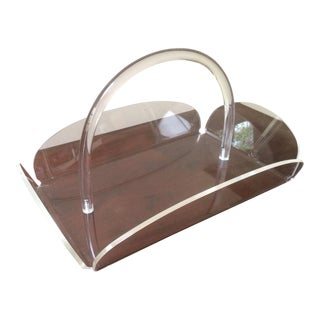 Mid-Century Lucite Basket Tray