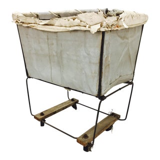 Vintage Laundry Cart Basket