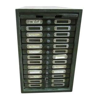 Vintage Metal Filing Cabinet