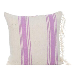 Moroccan Flatweave Pillow With Fringe