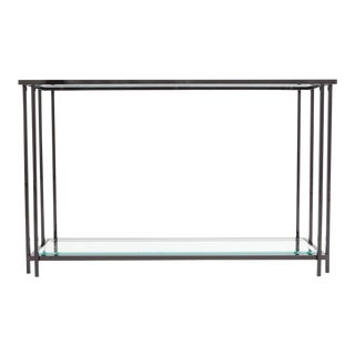 Black Chromed Two-Tier Console Table