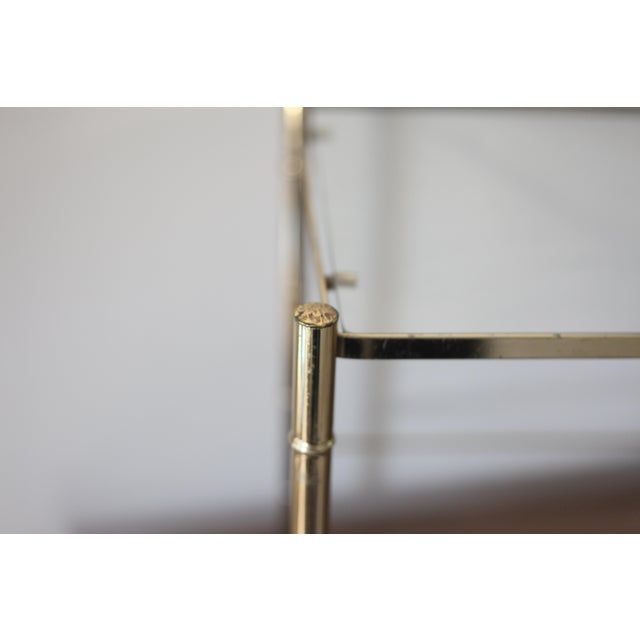 Image of Vintage Brass Faux Bamboo Side Table