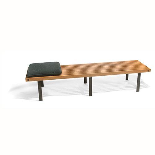 Wood Slat Bench, George Nelson Style - Image 2 of 3