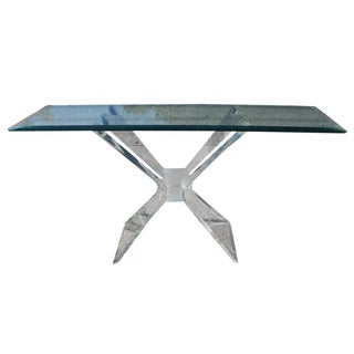 Vintage Butterfly Lucite Console Table