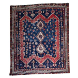 """Vintage West Persian Square Rug - 5'4"""" X 6'3"""""""