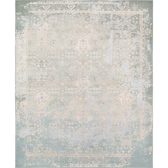 "Pasargad Transitiona Silk Wool Rug - 7'11"" x 9'11"" - Image 1 of 4"