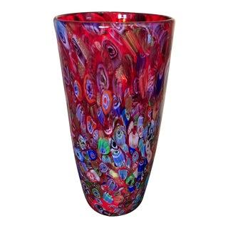 Italian Millefiori Vase