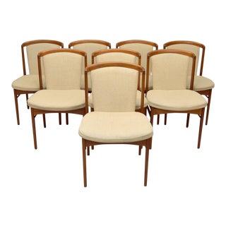 Erik Buck Rare Design Danish Teak Dining Chairs -Set of 8