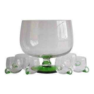 Vintage Punch Bowl & Glasses