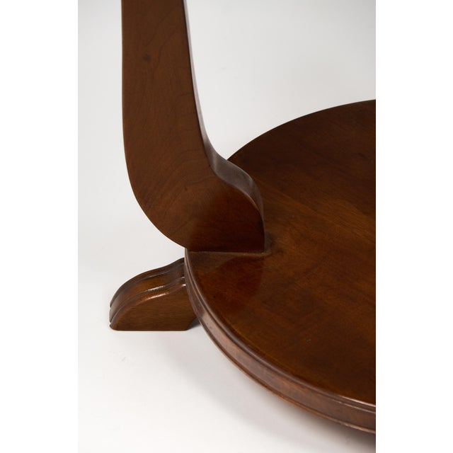 Image of French Art Deco Garlanded Walnut Gueridon