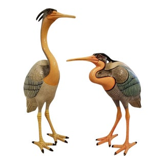 1980's Sergio Bustamante Life Size Great Blue Heron / Pair ( limited addition)