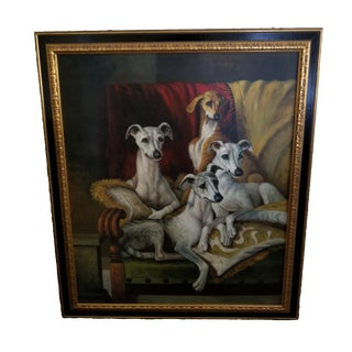 Maitland Smith-Style Whippet Dog Painting