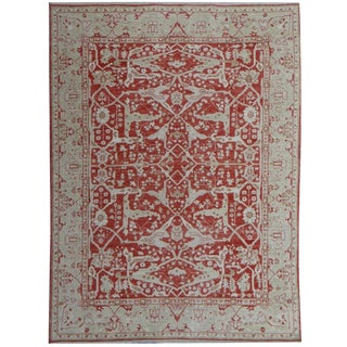 "Hand Knotted Fine Oushak Rug by Aara Rugs Inc. - 9'6"" X 7'11"""