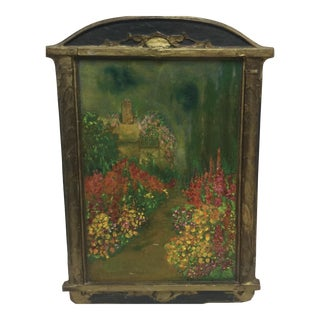 Painting of Flowers on Wooden Frame