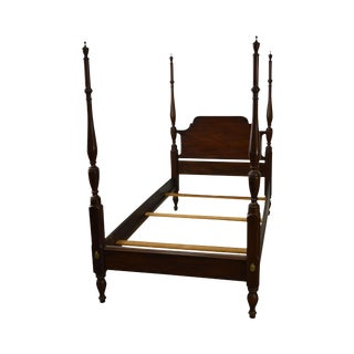 Henkel Harris Solid Mahogany Single Poster Bed