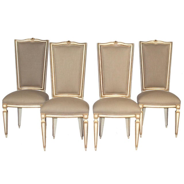 Upholstered Dining Chairs, Set of 4 - Image 1 of 3
