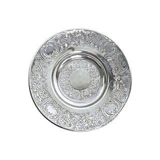 Antique Engraved Sterling Silver Saucer