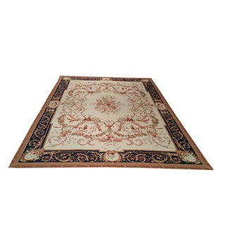 Aubusson Handmade Knotted Rug - 8′ × 11′