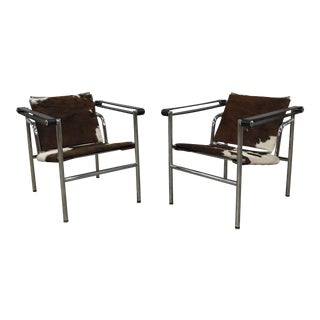 Cowhide Sling Side Chair
