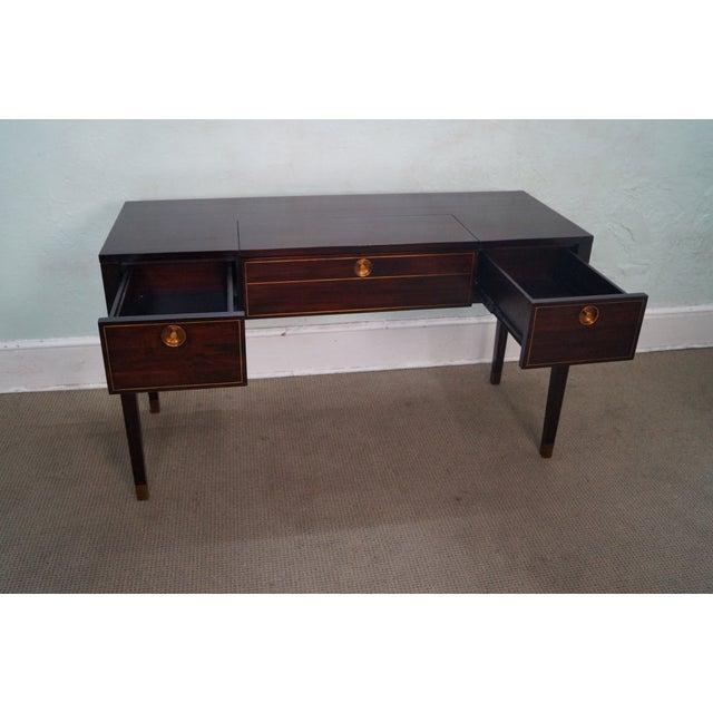 crate barrel brown mahogany regency desk chairish. Black Bedroom Furniture Sets. Home Design Ideas