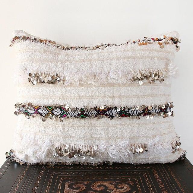 Moroccan Handira Wedding Blanket Pillow II - Image 2 of 7