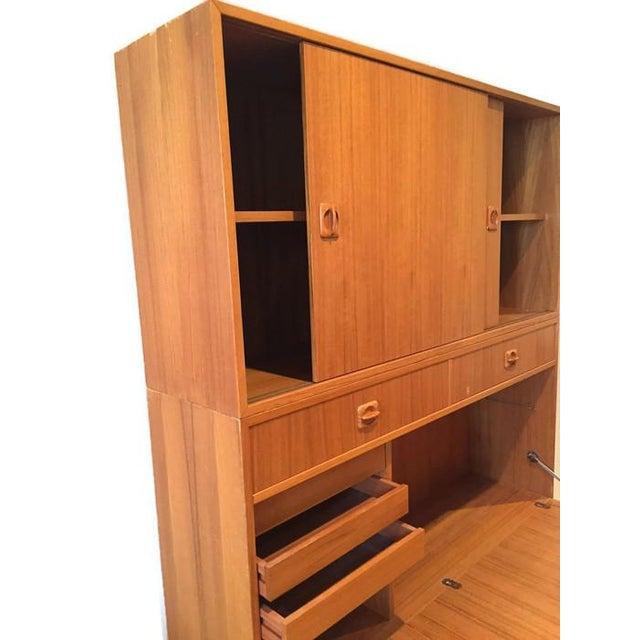 Mid Century Teak Modular Wall Unit Desk or Bar - Image 6 of 9