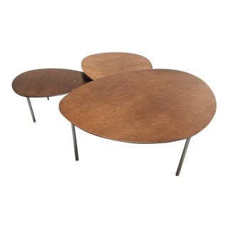 Stua Eclipse Walnut Nesting Tables - Set of 3