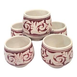 Atlas Burgundy Cups - Set of 5