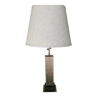 Visual Comfort Brass & Mahogany Table